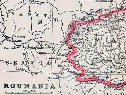 Roumania map