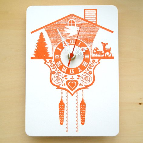 Cuckoo Clock True Orange ($28) From Decoylab